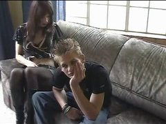 Teen tranny and her boyfriend have fun