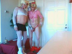 sissy bitch wendy jane gets her little limp dicky sucked oe
